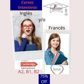 Cursos de ingles y/o frances