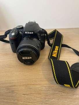 Camara nikon D3300 + lente