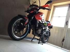Vendo motocicleta ns200pro color naranja documentos al dia