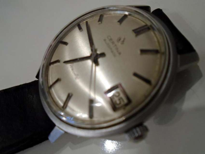 Reloj Antiguo CERTINA NEWART AUTOMATIC Calibre 33mm Logo Avión VINTAGE 0