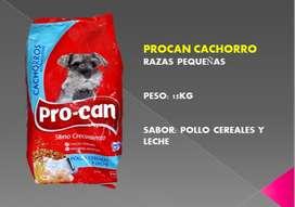 PROCAN CACHORRO RAZAS PEQUEÑAS 15KG