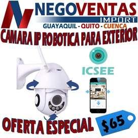 CÁMARA IP ROBÓTICA PARA EXTERIOR CONEXIÓN INALÁMBRICA PRECIO OFERTA  65,00