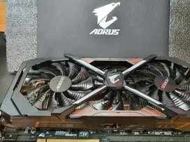 Nvidia GTX 1080 Ti  AORUS - 11GB MEMORIA - Tope de gama - IMPECABLE COMO SE VE CON SU CAJA