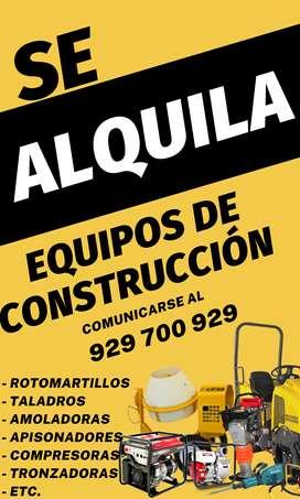 ALQUILER DE HERRAMIENTAS Y EQUIPOS PARA CONSTRUCCIÓN
