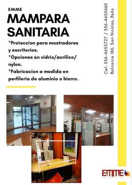 Mamparas sanitarias