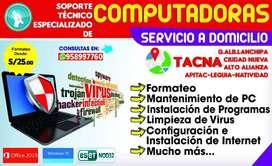 Servicio Técnico Especializado de Computadoras y Laptops