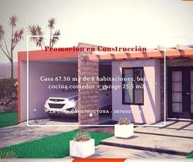 Construcción de Hermosa Casa en Material 3 dormitorios