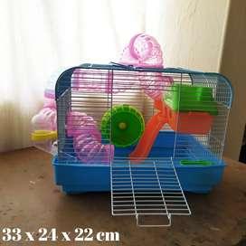 Jaula para hamster (Gratis funda de viruta y funda de comida)
