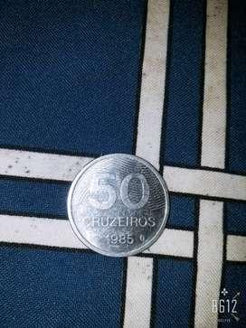 Moneda cruzeiro 1985