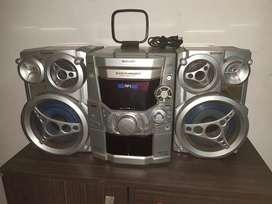 Equipo de sonido con cartera y cd