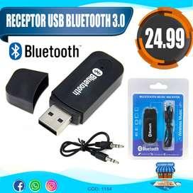 Receptor Usb Adaptador Bluetooth Autoradio Equipo Sonido Aux