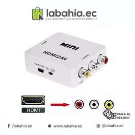 Convertidor Hdmi A Rca Para Laptop( Hdmi ) A Tv (rca) Mini HDMI2AV