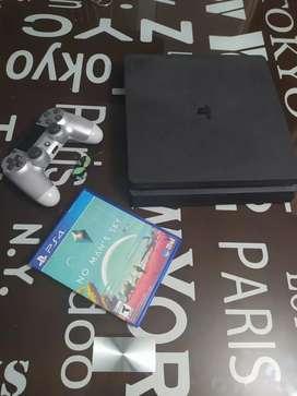 Vendo ps4 slim de 1 terá , un control, 4 juegos digitales y uno fisico