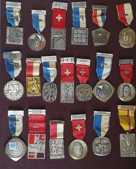 Colección De Medallas SUIZAS...