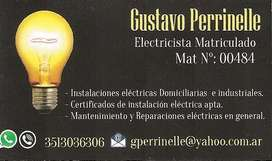 ELECTRICISTA MATRICULADO CATEGORIA III. CIUDAD DE CORDOBA