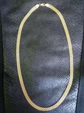 Cadena de oro italiano ley 750 20 gr y 52 cms