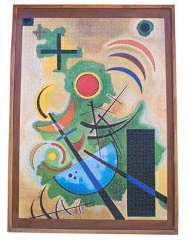 Puzzle Kandinski Standhaftes Grün 1925 armado y enmarcado