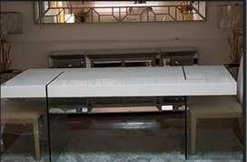 Mesa Italiana con soporte de vidrio
