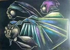 Vendo o Cambio Pintura Contreras Tiza Pastel 93x66