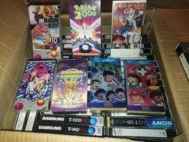 CINTAS DE VIDEO VHS ORIGINALES( DRGON BALL, POKEMON, DIGIMON, SUPERCSNPEONES ETC