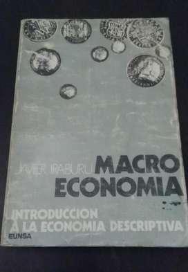 INTRODUCCION A LA ECONOMIA DESCRIPTIVA MACROECONOMIA . IRABURU . LIBRO