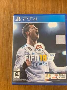 Vendo Juegos PS4 Fifa 18 UFC 3 y mas..