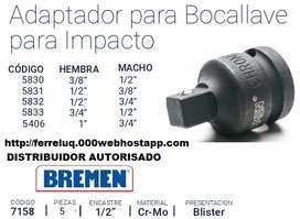 juego de adaptadores DE IMPARCTO  para tubos 6 piezas bremen
