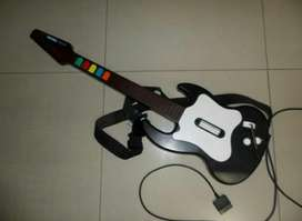 Guitarra para PS2 Guitar Hero con dos juegod