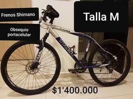 Bicicleta Trek de montaña talla M 5 años de uso