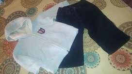 Conjunto campera polar y pantalón corderoy marca CHEEKY