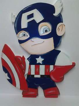 super heroes en icopor pira tus fiestas infantiles