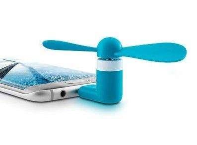 VENTILADOR Portatil conección Micro USB para Tablet CELULARES Andriod Power Back 0