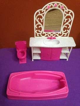 barbie baño
