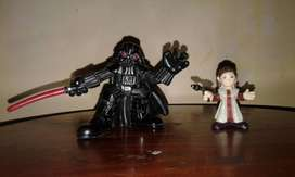 Star Wars Figuras Muñecos Galactic Heroes Darth Vader & Leia