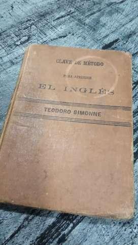 Libro antiguo método de inglés 1920