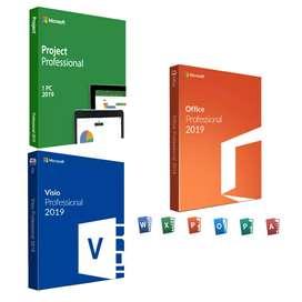 Office, Project, Visio, pack pro plus 2019 Original