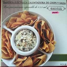 Vendo Bandeja Eléctrica Calentadora de Chips y salsa Nueva !!!