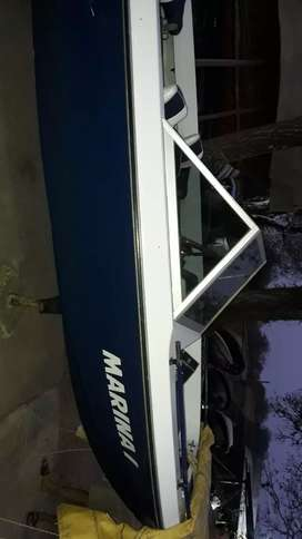 Vendo o permuto lancha campanelli 98 con motor y trailer lona ecosonda bateria chalecos remo