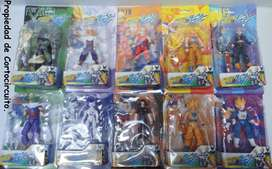 10 Figuras Dragon Ball Z Super con Rostros y Manos intercambiables.