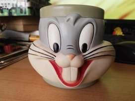 Taza de colección bugs bunny warner bros 1992