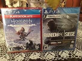 Juegos para Consola PS4| TOM CLANCY'S RainbowSIX|SIEGE más EDICIÓN DIGITAL DELUXE y Horizon ZERO DAWN EDICIÓN COMPLETA.