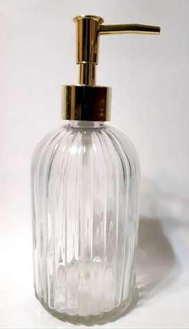 Dispenser Jabón Liquido Vidrio Labrado Vintage
