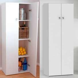 Despenseros 2 puertas con estantes en 1,50mts o 1,80mts blanco
