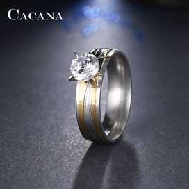 anillo compromiso acero
