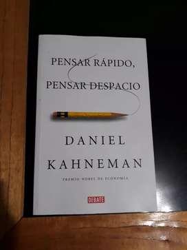 Pensar rapido pensar despacio. Daniel Kahneman