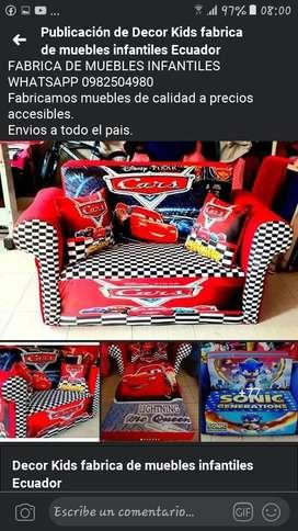 Sofa Cama Infantil para niños y niñas.