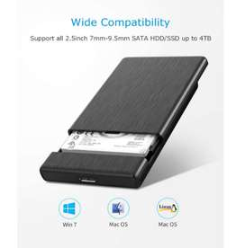 Disco duro externo 500gb HDD USB 3.0 - Caja Orico USB 3.0 nueva + Disco duro Seagate de segunda en perfecto estado