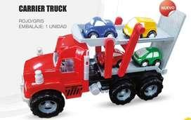 Juguete Camion De Carga Movil Mas 5 Carritos