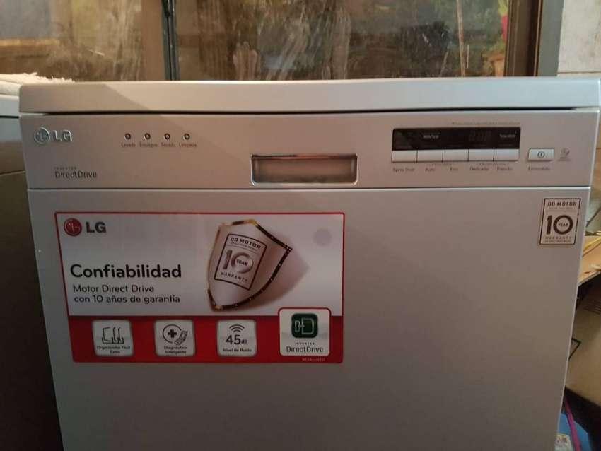 Lavavajillas LG D1452 Acero Inverter 14 Cubiertos Outlet 0
