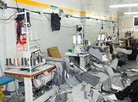 Personal Masculino para taller de confección textil